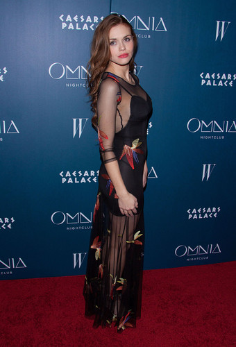 Holland Roden wallpaper possibly containing a sign called Holland attends Omnia Nightclub At Caesars Palace Grand Opening Weekend