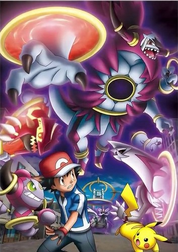 pokémon wallpaper containing animê entitled Hoopa & The Clash of Ages, featuring Hoopa Unbound