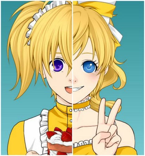 Five Nights at Freddy's kertas dinding containing Anime entitled Human Chica (made sejak me)