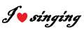 I heart singing - singing photo
