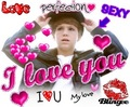 I love u sexy he is my drem boyfriend