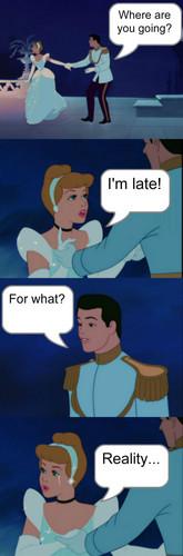 Диснеевские принцессы Обои titled I'm late for... reality...