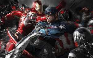 Iron M and Captain America