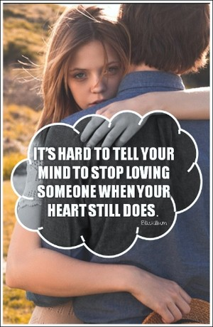 It's Hard to stop loving