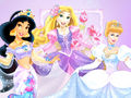 Jasmine, Rapunzel and cenicienta