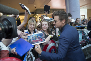 Jeremy Renner aka Clint Barton Red Carpet at Avengers Age of Ultron UK Premiere