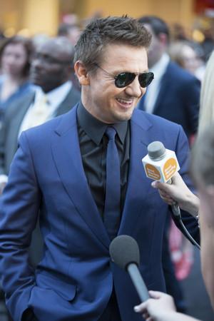 Jeremy Renner aka Clint Barton aka Hawkeye Red Carpet at Avengers Age of Ultron UK Premiere