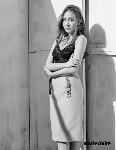 jessica snsd wallpaper possibly with a koktil, koktail dress and a portrait titled Jessica Jung for ''Marie Clare''
