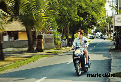 Ji Chang Wook Обои with a motorcycle cop called Ji Chang Wook For Marie Claire Korea