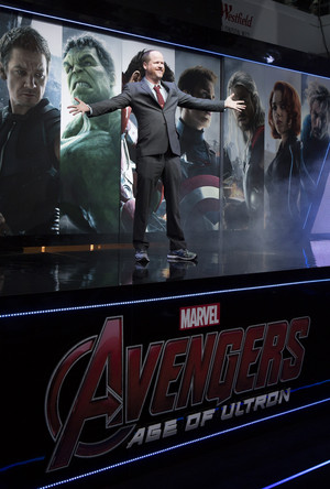 Joss Whedon Red Carpet at Avengers Age of Ultron UK Premiere