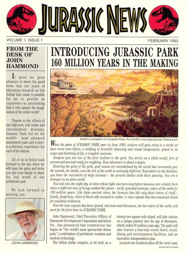 Jurassic Park پیپر وال containing عملی حکمت titled Jurassic News