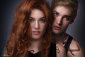 Katherine McNamara and Dominic Sherwood as Clary and Jace