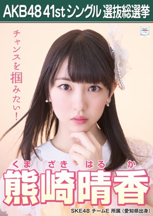 Kumazaki Haruka 2015 Sousenkyo Poster