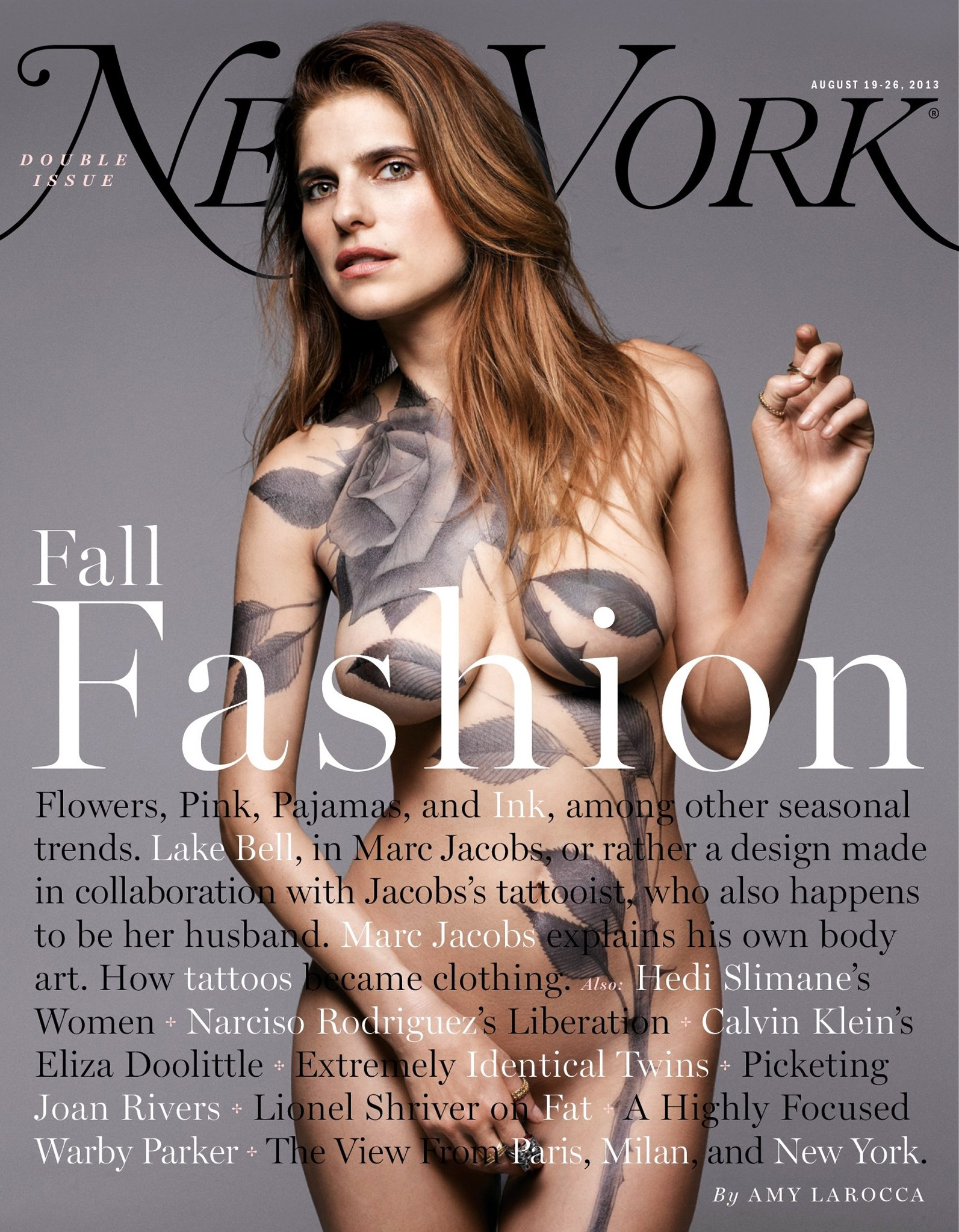 Lake sino - New York Magazine Cover - August 2013