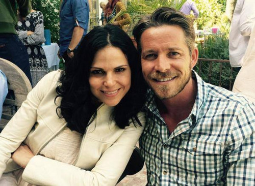 Once Upon A Time wallpaper titled Lana Parrilla and Sean Maguire