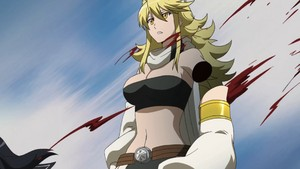 Leone's arm cut da Kurome .