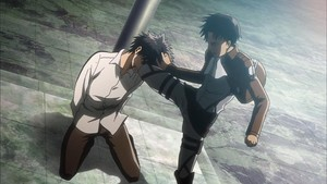 Levi kicking Eren (even his kick is sexy lol)