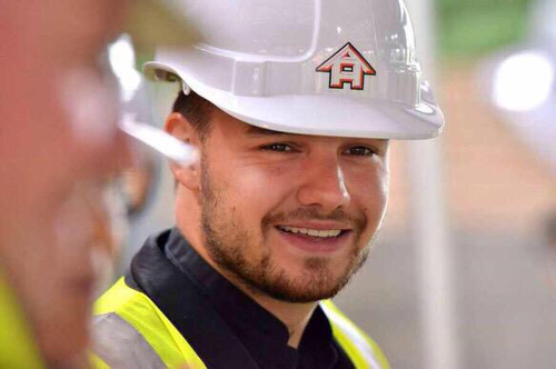 Liam at the site of Wolverhampton's new Youth Zone