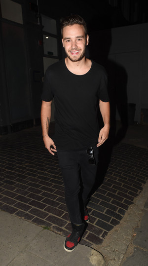Liam leaving the studio