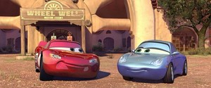 Lightning McQueen and Sally Carrera