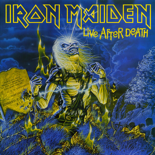 iron maiden wallpaper containing anime titled Live After Death