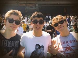 Luke, Calum and Ash