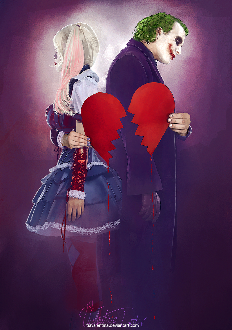 Joker And Harley Quinn Love Drawing Mad Love - The Joker a...