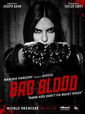 "Mariska Hargitay as 'Justice' - Poster for Taylor Swift's ""Bad Blood"" Music Video"