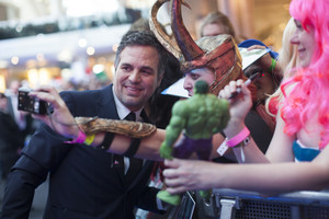 Mark Ruffalo aka Bruce Banner Red Carpet at Avengers Age of Ultron UK Premiere