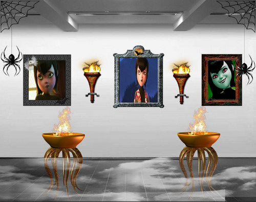 Hotel Transylvania kertas dinding entitled Mavis's Art Gallery of Terror