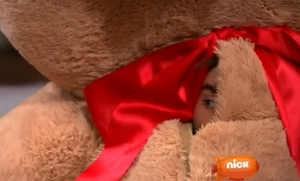 Max in the giant teddy madala