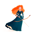 Merida     - brave fan art