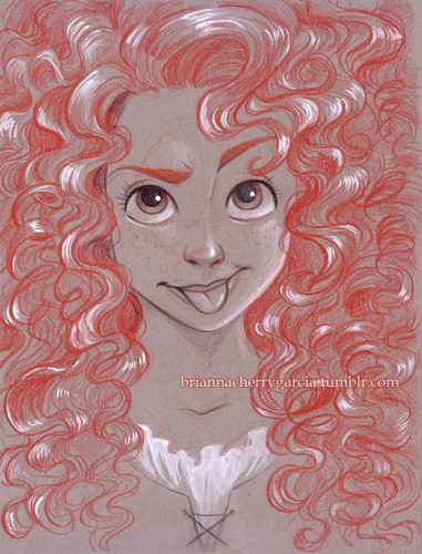 Childhood Animated Movie Heroines karatasi la kupamba ukuta called Merida