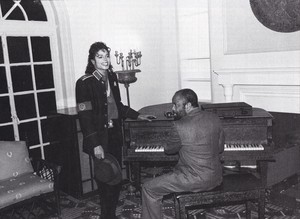 Michael Jackson - HQ Scan - Michael and Berry Gordy at the Motown museum in Detroit 1988