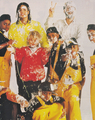 Michael Jackson - HQ Scan - Pie Fight. Behind the scenes of The Black Or White Short Film - michael-jackson photo