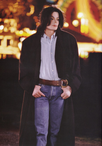 Michael Jackson wallpaper possibly with a fedora, a boater, and an outerwear titled Michael Jackson - HQ Scan - Vibe Magazine Photoshoot (2002)