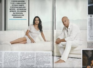 Michelle Rodriguez and Vin Diesel in Hello! Magazine Russia - 2013