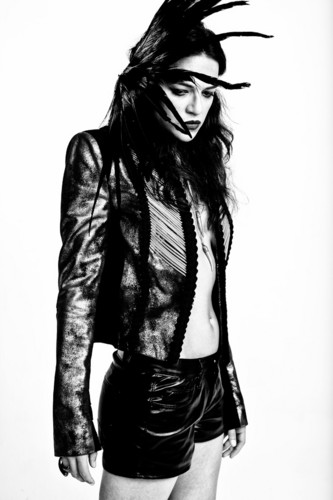 michelle rodriguez wallpaper with a hip boot titled Michelle Rodriguez in All Hollow Magazine - Fall 2013