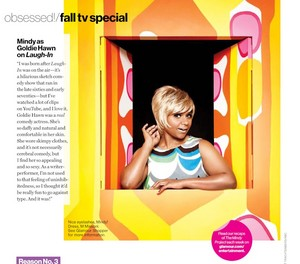 Mindy Kaling in Glamour Magazine - October 2012