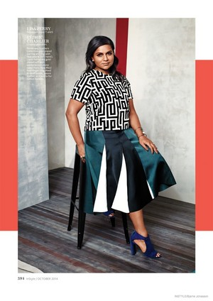Mindy Kaling in InStyle - September 2014