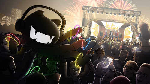 DUBSTEP wallpaper possibly with anime entitled Monstercat