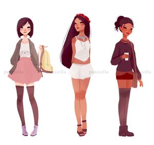 Mulan, Pocahontas and Tiana