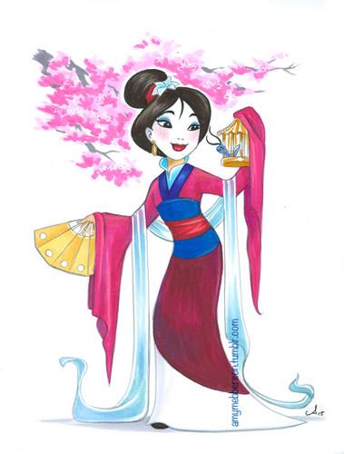 Mulan achtergrond titled Mulan