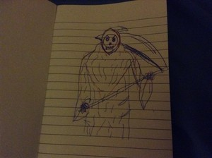 My attempt at drawing the Grim Reaper
