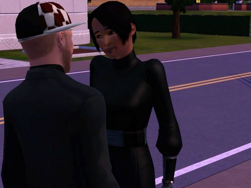 The Sims 3 wallpaper possibly with a business suit, a street, and a wicket called My new five fav Sim-Couples
