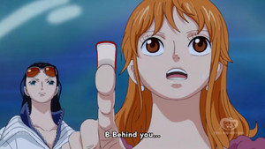Nami points to something dangerous