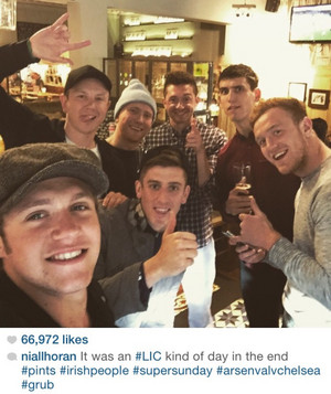 Niall in Londra recently