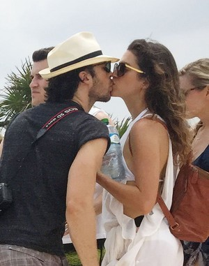 Nikki Reed and Ian Somerhalder at their honeymoon in Mexico