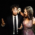 Nina Dobrev and Ian Somerhalder - the-vampire-diaries-tv-show photo
