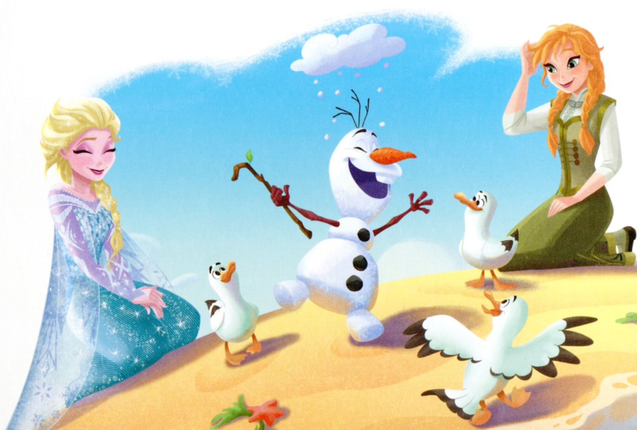 Olaf and elsa drawing car interior design - Olaf and anna ...